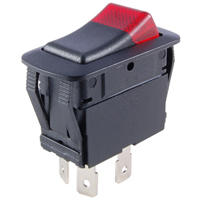NTE 54-231W SWITCH WATERPROOF ILLUMINATED ROCKER SPST 20A ON-NONE-OFF RED 12V