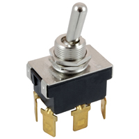 NTE 54-607 SWITCH BAT HANDLE TOGGLE DPDT ON-NONE-ON 20A