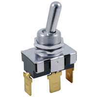 NTE 54-625 SWITCH BAT HANDLE TOGGLE SPDT (ON)-OFF-ON 20A