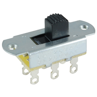 NTE 54-667 SWITCH SLIDE DPDT ON-OFF 6A 125VAC 3A