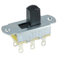 NTE 54-668 SWITCH SLIDE DPDT ON-OFF 6A 125VAC 3A