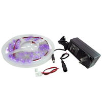 NTE 69-36PU-WR-KIT LED STRIP KIT PURPLE 16.4FT 300 (3528) LEDS