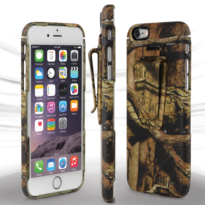 separation shoes 5c603 999a5 Nite Ize CNTI6-22-R8 Connect Case with Clip for iPhone 6, Mossy Oak