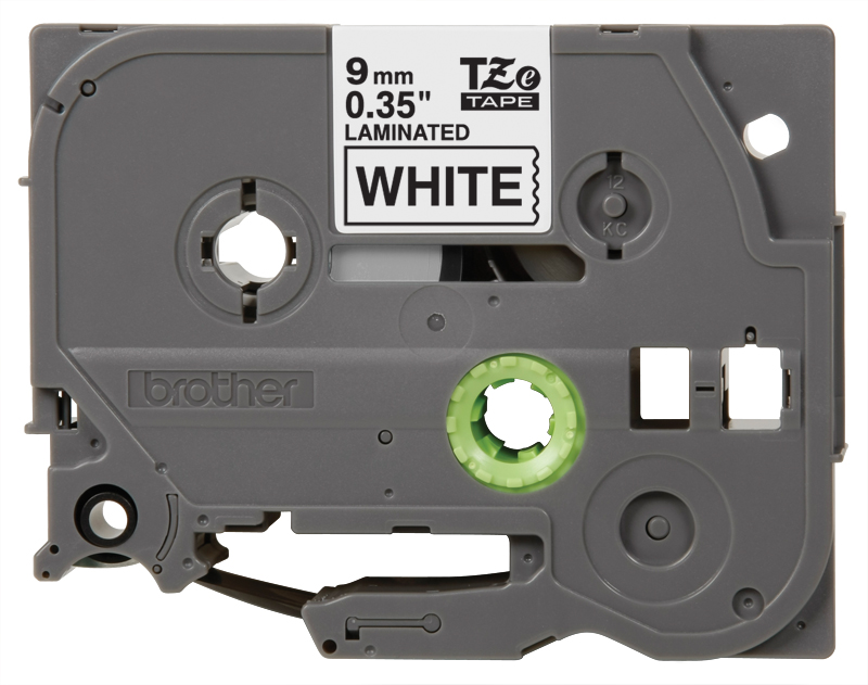 Brother TZe221 Black on White 3/8″ Label Tape