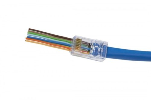 RJ45 CAT6 Large Connector for Cables with Large Conductor Jacket Diameter by