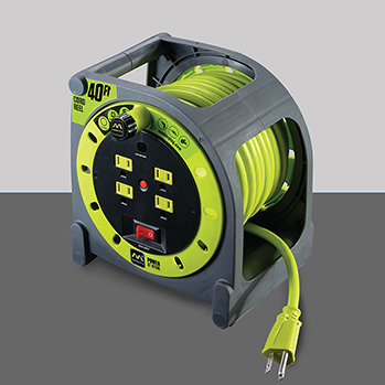 masterplug hma401214g4sl 40ft power cord case reel with 4 outlets kiesub electronics. Black Bedroom Furniture Sets. Home Design Ideas