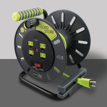 Masterplug OMA031114G4SL Cord Storage Reel With 4 Outlets