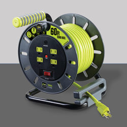 Masterplug OMA601114G4SL 60FT Power Cord Storage Reel with 4 Outlets