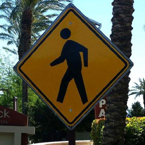 Yellow LED Flashing Pedestrian Crossing Sign